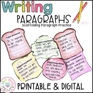 Paragraph Writing | How to Write a Paragraph | Printable & Digital (Google)
