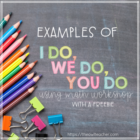 "Are you looking for examples of I Do, We Do, You Do"" but just haven't found them yet? Maybe you have heard of this style of teaching but just are sure of what it looks like in practice. This blog post fills you in with examples using both classroom and lesson plan examples, and provides you with a freebie to get started!"