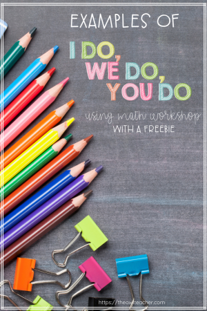 """Are you looking for examples of I Do, We Do, You Do"""" but just haven't found them yet? Maybe you have heard of this style of teaching but just are sure of what it looks like in practice. This blog post fills you in with examples using both classroom and lesson plan examples, and provides you with a freebie to get started!"""