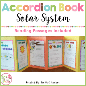 Solar System Accordion Booklet