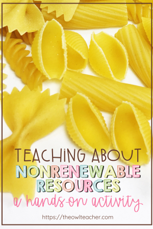 Help your students understand how nonrenewable resources do not last with this hands-on science activity that is perfect for any elementary teacher!