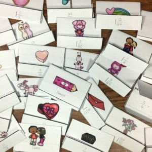 Valentines Day Unlike Fractions Math Scavenger Hunt