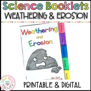 Weathering & Erosion Science Investigation Booklet Printable & Digital (Google)