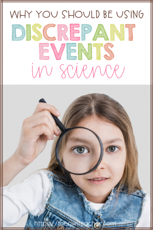 """Are you looking for ways to engage and motivate your students in the science classroom? Consider using discrepant events! This research based teaching strategy is the best way to get students hooked and make them say """"how did that happen!?"""" This is a strategy you SHOULD be using in your science teaching!"""