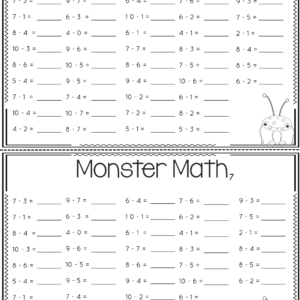 Addition and Subtraction Fact Fluency Practice