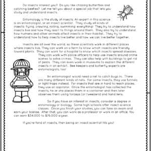 Science Careers Reading Pieces and Trading Cards Printable & Digital