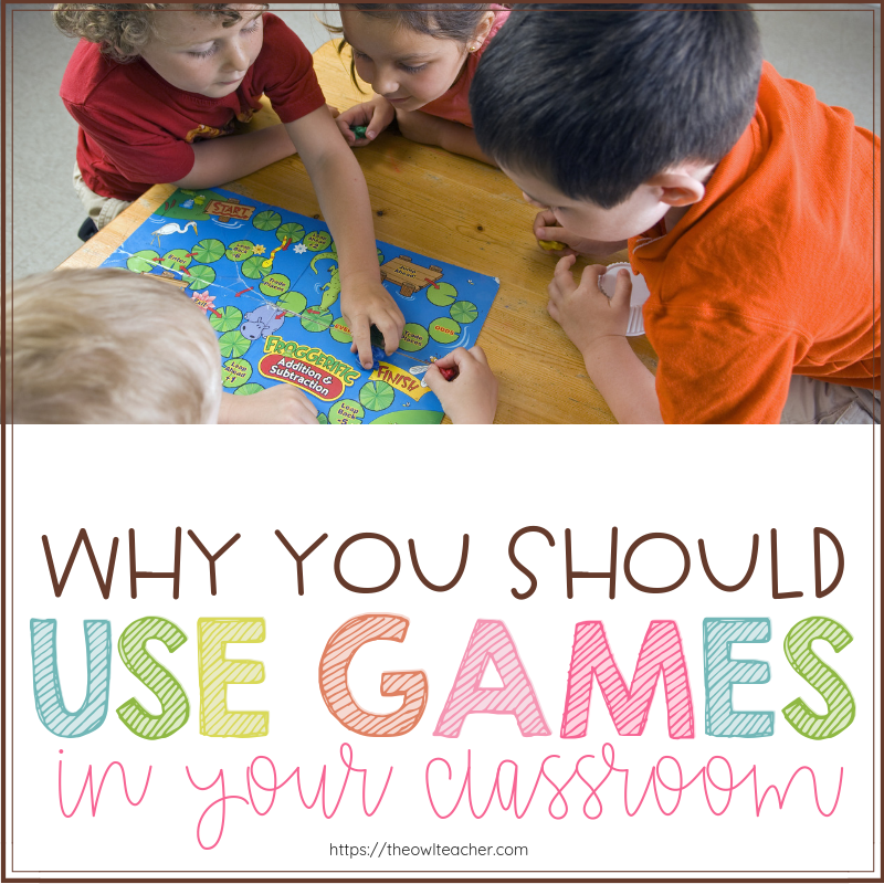 Do you think games are time-consuming or too competitive? This post helps you understand all the reasons why you should be using games in your elementary classroom- including one that will surprise you.