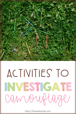Are you looking for a new way for your students to investigate camouflage? Check out these two different activities for students to explore this physical adaptation!