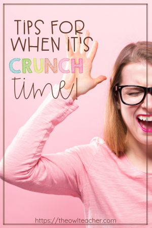 Time is running out and you still have a lot of work to get through. How do you make sure that you teach everything you need to do during crunch time? Check out these tips to help you survive the crunch and keep your students on task!