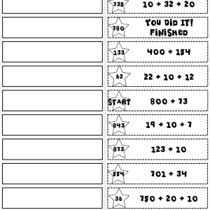 Add & Subtract within 1000 Start2Finish Puzzles Printable & Digital (Google)