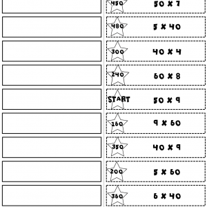 Multiples of 10 Start2Finish Printable & Digital (Google) Math Puzzles