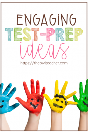 If you have to do test prep, why not find a way to make sure it's engaging? This post helps your students review material before that all important test in ways that are motivating and engaging. Check out these test prep ideas.