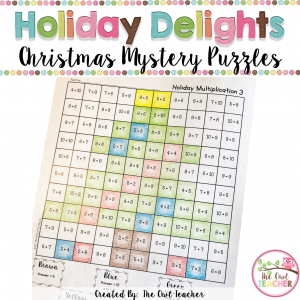 Christmas Multiplication Mystery Puzzle