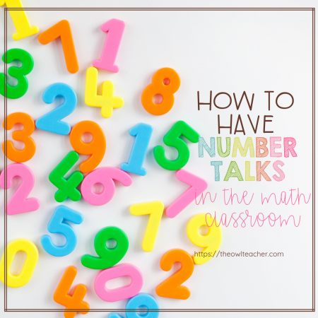 Have you always wanted to do number talks in your math classroom but wasn't sure how? Check out this post where I walk you through it and help you get started today!