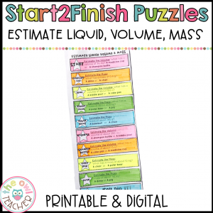 Estimating Liquid Volume and Mass Start2Finish Printable & Digital Puzzles