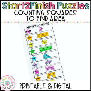 Counting Squares to find the Area Start2Finish Puzzles Printable & Digital