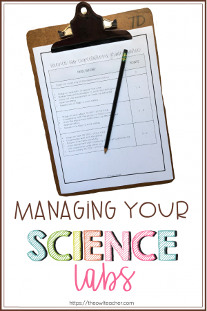 Managing science labs can be done easily so that your students will be on task and learning! Check out this post and grab a freebie!