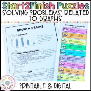 Solve Problems Related to Graphs Start2Finish Math Puzzles Printable & Digital