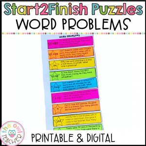 Solving Word Problems Start2Finish Printable & Digital (Google) Math Puzzles