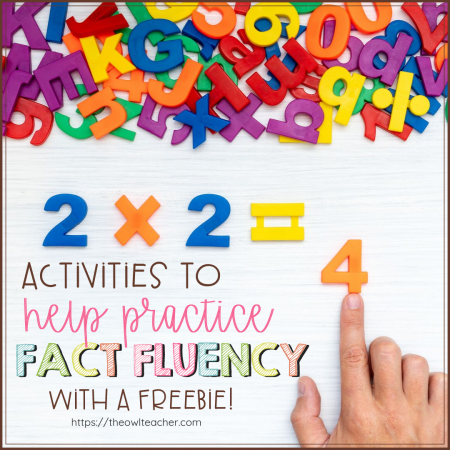 Do you need activities to help your students practice fact fluency? Check out these math ideas to get you started with teaching multiplication!