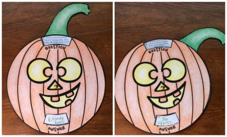 This math trivia pumpkin wheel is a great activity for any upper elementary classroom that is looking for a fall activity!