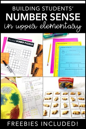 Are you looking for some great ideas on how you can build number sense in your upper elementary math students? Check out these great posts and grab some freebies along the way!