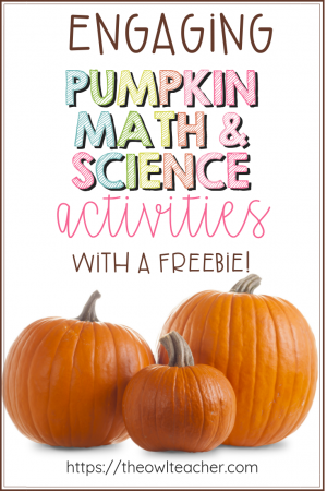 Check out these engaging math and science pumpkin activities that will engage your students and save you time lesson planning for the fall or Halloween! Plus, grab a FREEBIE!