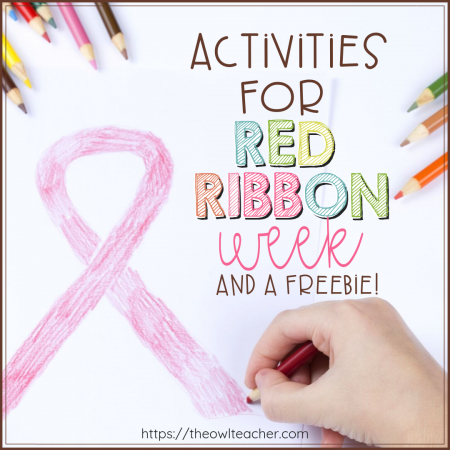 Are you looking for some activities for Red Ribbon Week? Check out this blog post where I help you teach strategies for peer pressure and provide engaging activities for teaching about drugs, alcohol and smoking to upper elementary students.
