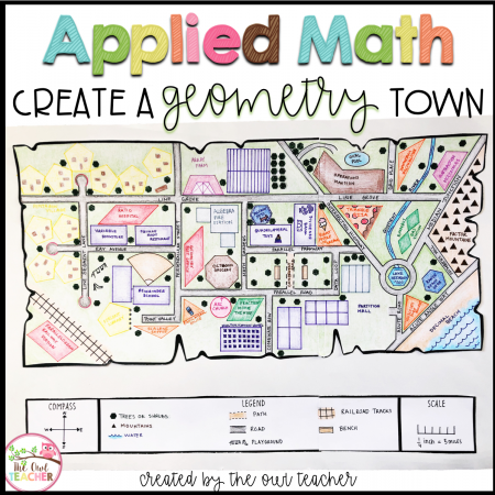 Have your students demonstrate their understanding of many different math concepts while designing a map of their own town! This hands-on math activity is a project that will definitely engage your students.