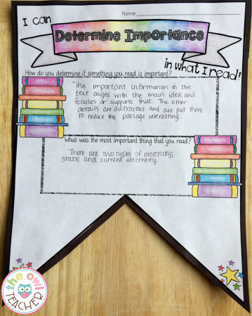 This reading strategies pennant is a great way to bring in reading during science! Students can practice their reading strategies and reading skills on science texts!