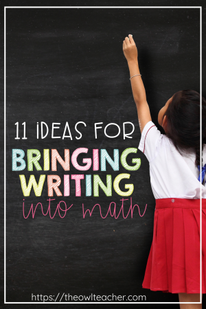 Help your students deepen their understanding for math while becoming critical thinkers by writing in math. This post explores 11 different ideas for how teachers can bring more writing into their math classrooms beyond just solving equations.