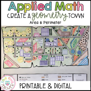 Geometry Town Project Based Learning Printable & Digital (Google)