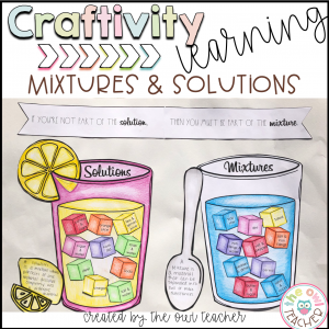 Mixtures and Solutions Craftivity