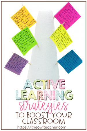 Active learning strategies are the perfect solution for taking your students from a passive state to an active state that involves higher-order thinking skills. These instructional tactics have proven to impact student achievement, enrich instruction, and engage their thinking processes. Check out this blog post with ideas to get you started!