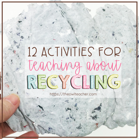 If you're looking for recycling activities, you've landed in the right place! Whether it be for Earth Day, a natural resources unit, or for National Recycling Week in November, I have you covered. Check out these really cool and engaging activities you can do in your upper elementary classroom.