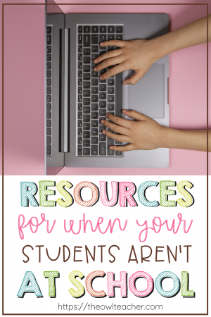 This blog post contains offline and online resources for when your students are not at school, whether that is through remote learning, distance learning, virtual learning, or something else. This also includes preventing the summer slide, providing enrichment or remediation, and much more!