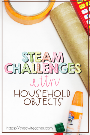 Are you looking for some STEAM/STEM activities without having to purchase a lot of materials? Check out these activities that use just regular household objects!