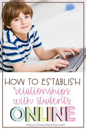 With remote learning happening across our classrooms in the fall, we have to figure out new ways to build relationships with students online. This post provides some ideas to help you get to know your students digitally while distance learning! Plus, you can grab a free digital interest inventory!