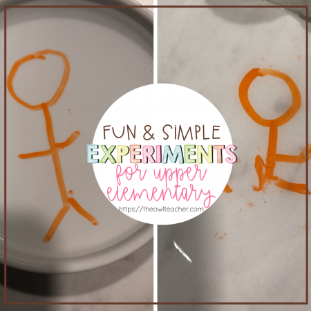 The best way to learn science is through hands-on experiences. I love sharing these fun, engaging experiments with my students. Here are some fun and simple experiments for upper elementary that you can use with your students right away!