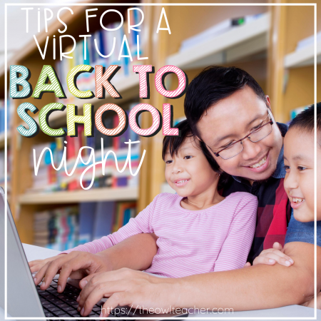 If you have to teach online this year through distance learning, check out this post to help you with your virtual back to school night! It is full of tips to help teachers during back to school open house!