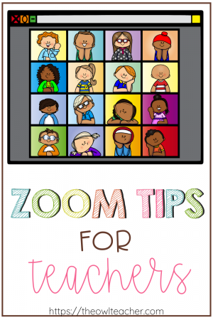 There's a pretty good chance that you'll be using Zoom for class meetings or staff meetings this upcoming school year whether you are distance teaching or using a hybrid approach. Check out this post to learn Zoom tips for teachers and get started right away!