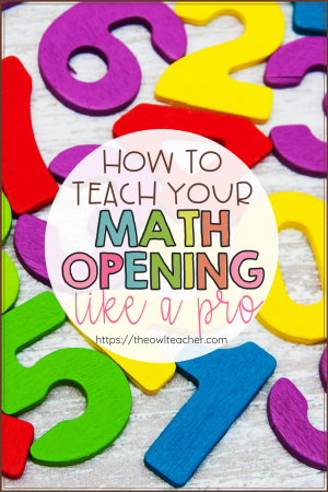 Most people skip the math workshop opening but it's actually really important to include a math opening. This post includes lots of ideas on how to make it quick and easy like a pro!