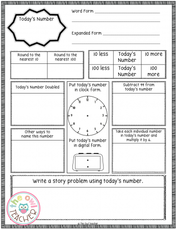 Number of the day is a math opening activity that can be used regularly during math workshop to help promote numeracy and to show the relationship between numbers.