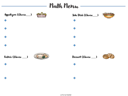 This math menu is a great alternative to math centers. Your guided math time during math workshop can be differentiated and engaging! Save this pin and click through!