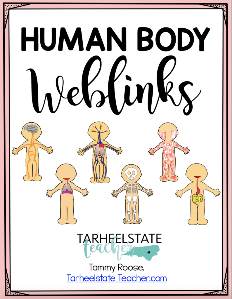 If you're teaching the human body systems, you need to check out this post. It is a collection of valuable freebies, websites, and so much more. Save this pin and click through to learn more!