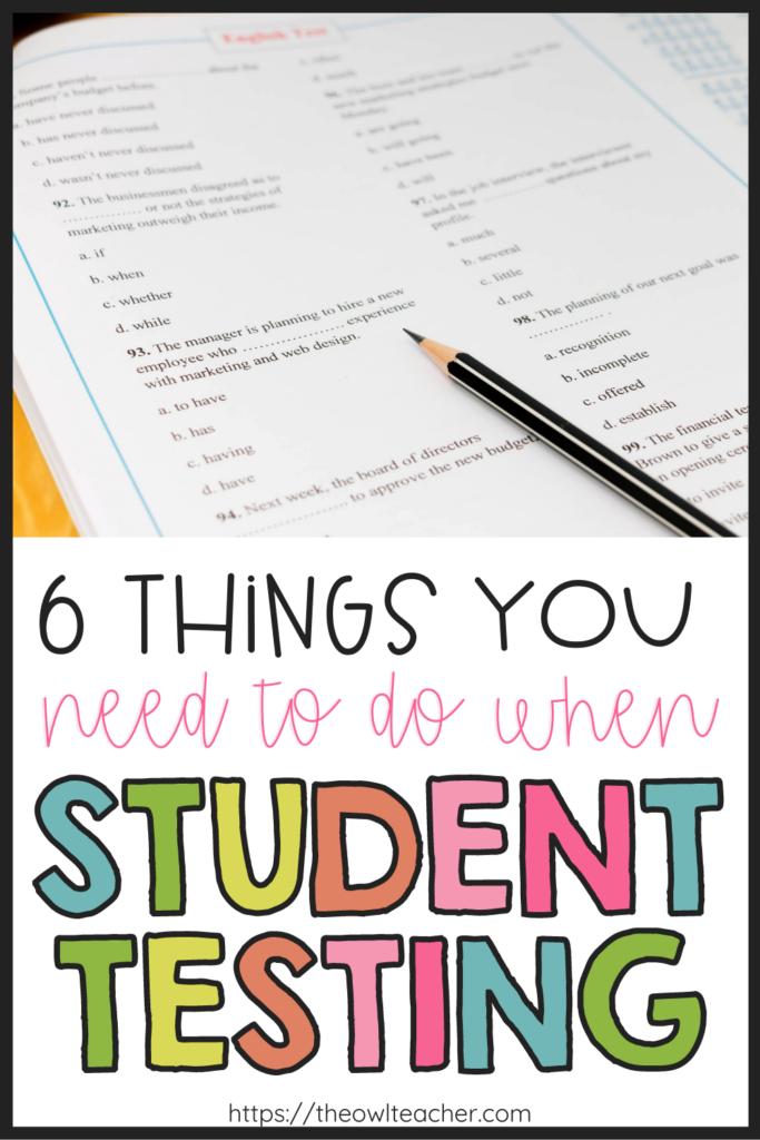 As you prepare your students for testing, make sure you check out these 6 tips of what you should do. It includes important test-taking skills, test prep ideas, and so much more!
