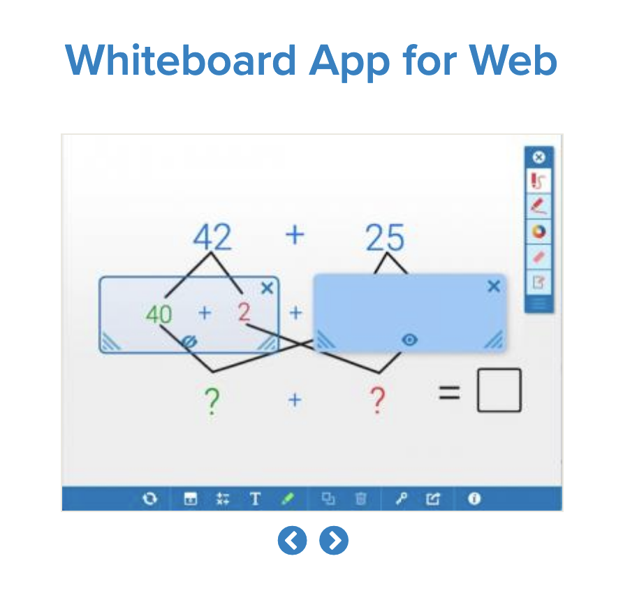 When teaching virtually, consider using the whiteboard app from the math learning center. It's very helping when teaching concepts such as equivalent fractions, number sense, measurement, and much more!
