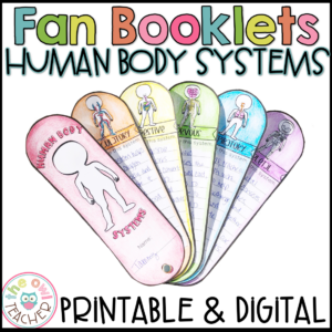 Human Body Systems Fans Printable and Digital