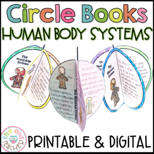 Human Body Systems Circle Book Printable & Digital