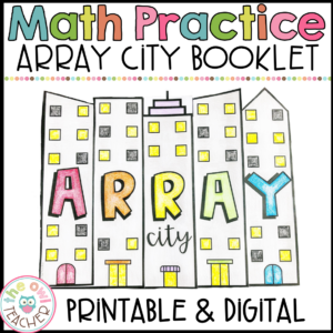 Multiplication Arrays Flipbook | Array City Booklet